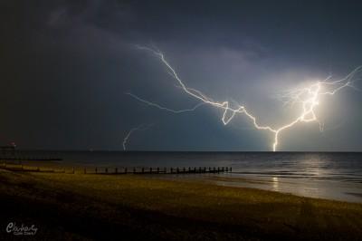 Lightning at Bognor Regis Beach Photo