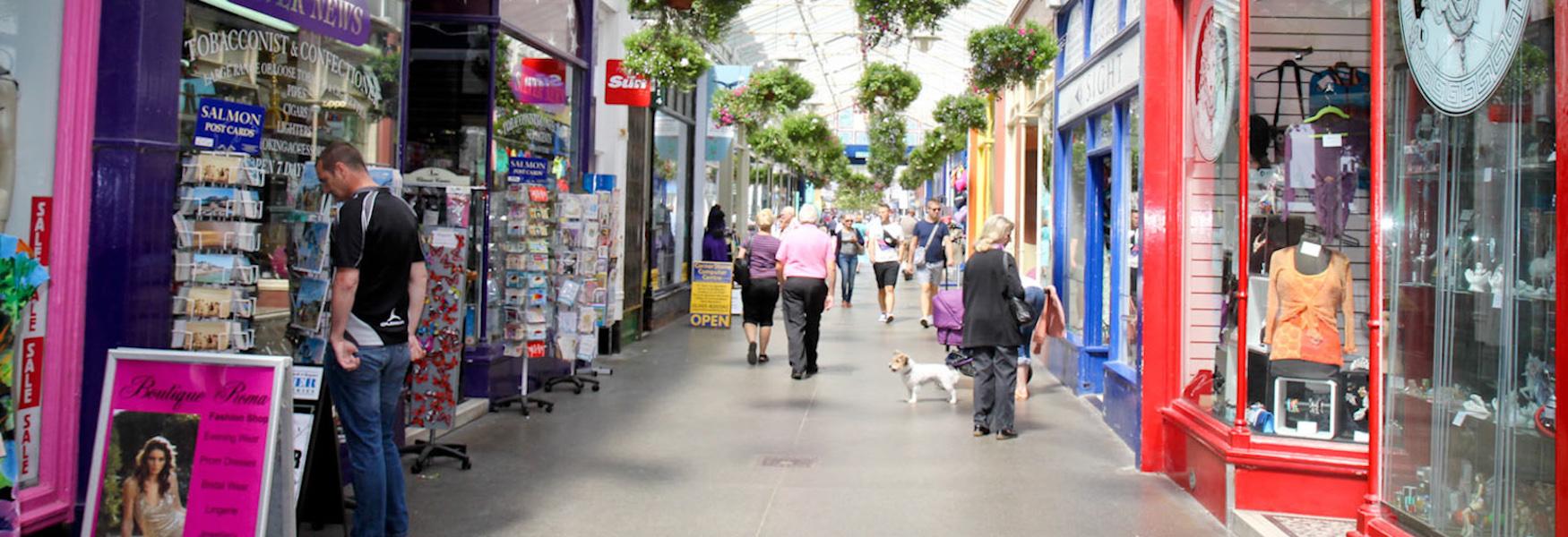The Bognor Regis Shopping Arcade