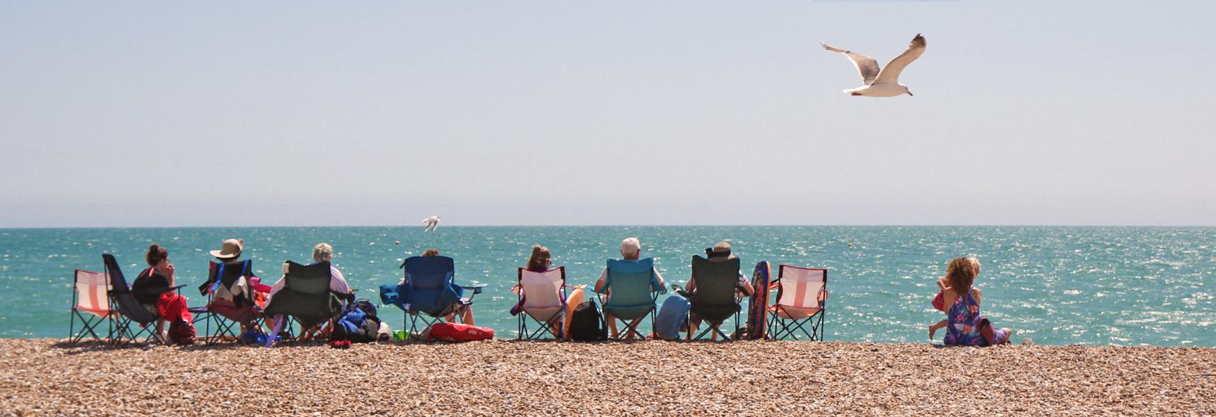 Sitting on Bognor Regis Beach